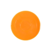 SC1-28/OR Πιατάκι πορσελάνης για φλυτζάνι 280cc, πορτοκαλί, σειρά Rio, LUKANDA