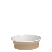 210DELIPOC12 Χάρτινο δοχείο για σαλάτες, 360ml, Φ11,4cm, χρώμα Kraft, μίας χρήσης