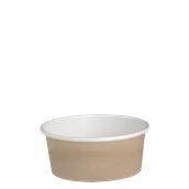 210DELIPOC16 Χάρτινο δοχείο για σαλάτες, 480ml, Φ11,4cm, χρώμα Kraft, μίας χρήσης