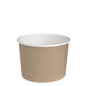 210DELIPOC24 Χάρτινο δοχείο για σαλάτες, 720ml, Φ11,4cm, χρώμα Kraft, μίας χρήσης