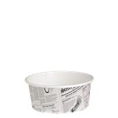 210DELINEWS16 Χάρτινο δοχείο για σαλάτες, 480ml, Φ11,4cm, σχέδιο εφημερίδα, μίας χρήσης