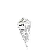 210PCONEW150 Κώνος σερβιρίσματος 360ml, 18x18x25cm, χάρτινος με σχέδιο εφημερίδας