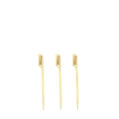 210BBWELL9 Sticks Ξύλινα 9cm με ετικέτα Ψησίματος WELL, Σειρά «Teppo Gushi»