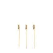210BBMED9 Sticks Ξύλινα 9cm με ετικέτα Ψησίματος MEDIUM, Σειρά «Teppo Gushi»