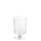 210VIN15 Ποτήρι κολωνάτο κρασιού 15cl, Πλαστικό, Μιας χρήσης
