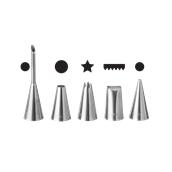 551592 Πακέτο 5 κορνεδάκια διακοσμητικά, φ2/4/6/8/10mm, HENDI