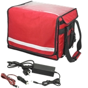 HTB-40X30X30 Θερμόσακος με θερμαινόμενη πλάκα, 40x30x30cm, κόκκινος