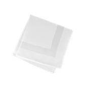 SBN-53X53/WH Υφασμάτινη πετσέτα φαγητού με σατέν κορνίζα, 53x53cm, Poly/Cotton Αιγύπτου, 210gsm, λευκή