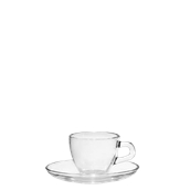 T03511 Γυάλινο Φλυτζάνι με πιατάκι Espresso, 7,5cl, Φ6,4x5,2cm, Σειρά BRAZIL, CERVE