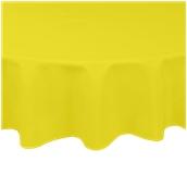 TCA145-R150-YE Τραπεζομάντηλο από αδιάβροχο, αλέκιαστο ύφασμα, 145gr/m2, φ150cm, κίτρινο