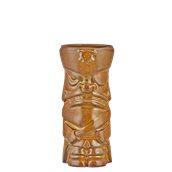 PIRATE-44/BR Κούπα Tiki 44cl, φ7.3x17cm, καφέ, Πορσελάνης, Ελληνικής κατασκευής