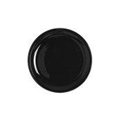 SLB-FP-23 Πιάτο Ρηχό πορσελάνης 23cm, Σειρά SLIM, μάυρο, LUKANDA