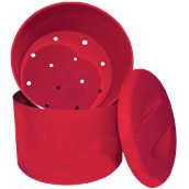 IB-10LT/RD Παγοδιατηρητής κόκκινος πλαστικός φ29x22cm, 10Lt, με σχάρα