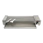 EG-8C-400S Επιτραπέζιο ηλεκτρικό γκριλ 3000W, 26x73x13cm, 18/10, συρτάρι νερού, 10 αντιστάσεις