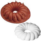 HF01102 Φόρμα τούρτας σιλικόνης, Savarin, φ24x6cm, 1.25Lt, HappyFlex