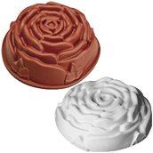 HF01252 Φόρμα τούρτας σιλικόνης, Τριαντάφυλλο, φ23x9.5cm, 2Lt, HappyFlex