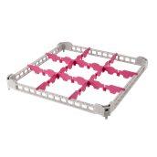 BDE-09/GREY Προέκταση Μπασκέτας Πλυντηρίου με 9 χωρίσματα 50x50x4cm, Plast Port