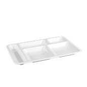 PCS11/WHITE Πλαστικός δίσκος PC (Polycarbonate), 5 χωρισμάτων, 40x28cm, λευκός, Plast Port