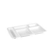 PCS12/WHITE Πλαστικός δίσκος για παιδιά PC, 5 χωρισμάτων, 36x25cm, λευκός, Plast Port