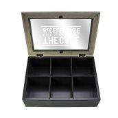 TTB60 Ξύλινο κουτί για τσάι, 6 θέσεων, 24x16.5x7cm