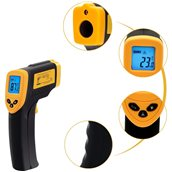 L908572 Θερμόμετρο Laser Ακριβείας, 3.7xΥ14cm, -32oC έως +300oC