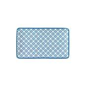 KROZ-BL-OP-27 Πιατέλα ορθογώνια πορσελάνης 27x16cm, Σειρά KROZ Μπλε, LUKANDA