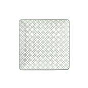 KROZ-GR-FP-35 Πιάτο Ρηχό πορσελάνης τετράγωνο 25x25cm - φ35cm, Σειρά KROZ Γκρι, LUKANDA