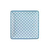 KROZ-BL-FP-35 Πιάτο Ρηχό πορσελάνης τετράγωνο 25x25cm - φ35cm, Σειρά KROZ Μπλε, LUKANDA