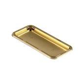 070.280.200 Δισκάκι Πάστας PET πολυτελείας 13 x 7 cm, χρυσαφί, Erremme Ιταλίας