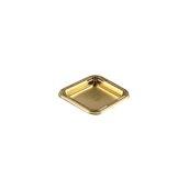 060.280.088 Δισκάκι Πάστας PET πολυτελείας 9 x 9 cm, χρυσαφί, Erremme Ιταλίας