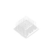 059.040.70C Καπάκι για Δισκάκι Πάστας PET πολυτελείας 9 x 9 cm x 7cm ύψος, χρυσαφί, Erremme Ιταλίας