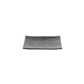 S0934200NER Πιάτο ορθογώνιο μελαμίνης 20x14cmι, Μαύρο, TOGNANA
