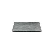 S0934250NER Πιάτο ορθογώνιο μελαμίνης 25x17cmι, Μαύρο, TOGNANA