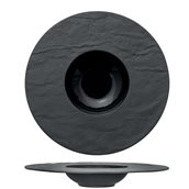 M126655 Πιάτο πορσελάνης ζυμαρικών 34cm(εσ.φ15.5cm), μαύρο, PIETRA EFFETO, M1934