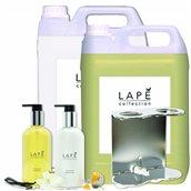 LAPE-S2-7778 ΣΕΤ Δώρο 1 διπλή βάση βάσεις με 2x5Lt+2x300ml Λοσιόν+Κρεμοσάπουνο, μέλι & βανίλια, Lape