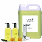 LAPE-S1-100934577 ΣΕΤ Δώρο 1 μονή βάση με 1x5Lt+2x300ml Κρεμοσάπουνο, με ανατολίτικο άρωμα μέλι & βανίλια, Lape