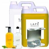 LAPE-S2-7576 ΣΕΤ Δώρο 1 διπλή βάση βάσεις με 2x5Lt+2x300ml Λοσιόν+Κρεμοσάπουνο, λεμόνι & τσάι, Lape