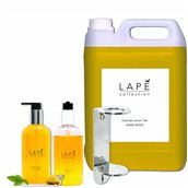 LAPE-S1-100934575 ΣΕΤ Δώρο 1 μονή βάση με 1x5Lt+2x300ml Κρεμοσάπουνο, με ανατολίτικο άρωμα λεμόνι & τσάι, Lape
