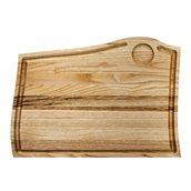 KS-020176 Ξύλινο πλατό Λούκι και 1 θέση σως, από ξύλο Καστανιάς, 38x28 cm