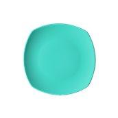 NATIVE-Q26-BL Πιάτο ρηχό κεραμικό 26x26cm, με ενισχυμένη αντοχή στο ξεφλούδισμα, μπλε