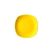 NATIVE-Q19-YE Πιάτο ρηχό κεραμικό 19x19cm, με ενισχυμένη αντοχή στο ξεφλούδισμα, κίτρινο