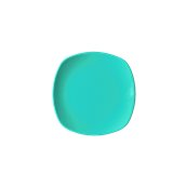 NATIVE-Q19-BL Πιάτο ρηχό κεραμικό 19x19cm, με ενισχυμένη αντοχή στο ξεφλούδισμα, μπλε