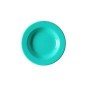 NATIVE-D22-BL Πιάτο βαθύ κεραμικό 22cm, με ενισχυμένη αντοχή στο ξεφλούδισμα, μπλε
