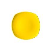 NATIVE-Q24-YE Πιάτο ρηχό κεραμικό 24x24cm, με ενισχυμένη αντοχή στο ξεφλούδισμα, κίτρινο