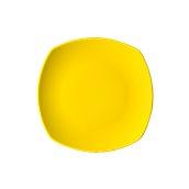 NATIVE-Q26-YE Πιάτο ρηχό κεραμικό 26x26cm, με ενισχυμένη αντοχή στο ξεφλούδισμα, κίτρινο