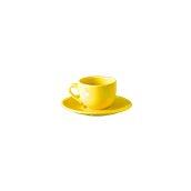 NATIVE-C100-YE Σετ φλυτζάνι καφέ 100cc με πιατάκι, κεραμικό, κίτρινο