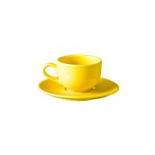 NATIVE-C180-YE Σετ φλυτζάνι τσαγιού 180cc με πιατάκι, κεραμικό, κίτρινο
