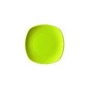 NATIVE-Q19-GN Πιάτο ρηχό κεραμικό 19x19cm, με ενισχυμένη αντοχή στο ξεφλούδισμα, πράσινο