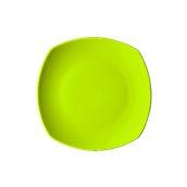 NATIVE-Q26-GN Πιάτο ρηχό κεραμικό 26x26cm, με ενισχυμένη αντοχή στο ξεφλούδισμα, πράσινο