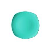 NATIVE-Q24-BL Πιάτο ρηχό κεραμικό 24x24cm, με ενισχυμένη αντοχή στο ξεφλούδισμα, μπλε